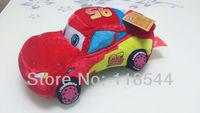 plush car toy F5 mc queen car boy's gifts kids doll plush car one piece  free shipping