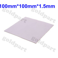 2pcs 100mmx100mmx1.5mm GPU CPU Heatsink Cooling Thermal Conductive Silicone Pad
