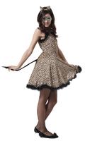 Sexy leopard print women's piece set leopard print dress leopard print hair accessory erotic clothing cos