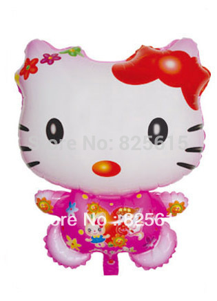 Free shipping Foil Balloon Figure Helium Balloon (Cartoon design) , 100pcs/lot hello kitty balloon(China (Mainland))