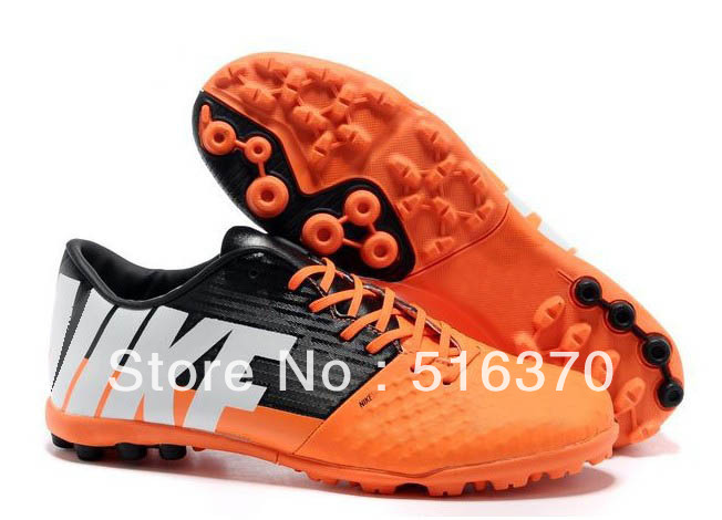 new arrive Bomba Finale II Turf Soccer Boots-Orange/White/Sequoia men's indoor soccer shoes football boots size 39-45(China (Mainland))