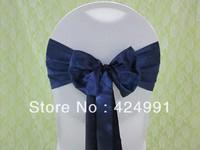 100pcs Hot Sale  Navy Blue Satin Chair Sash For Weddings Events &Party Decoration