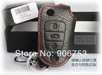 Free Shipping Hyundai VERNA/Solaris/i30/ix35 Leather Smart Key Holder/Key Sets(3 Button) bt6