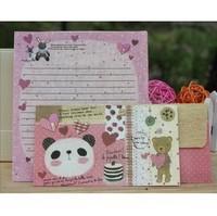 free shipping !!! cute cartoon  letter paper envelope set / animal envelope stationery letter pad