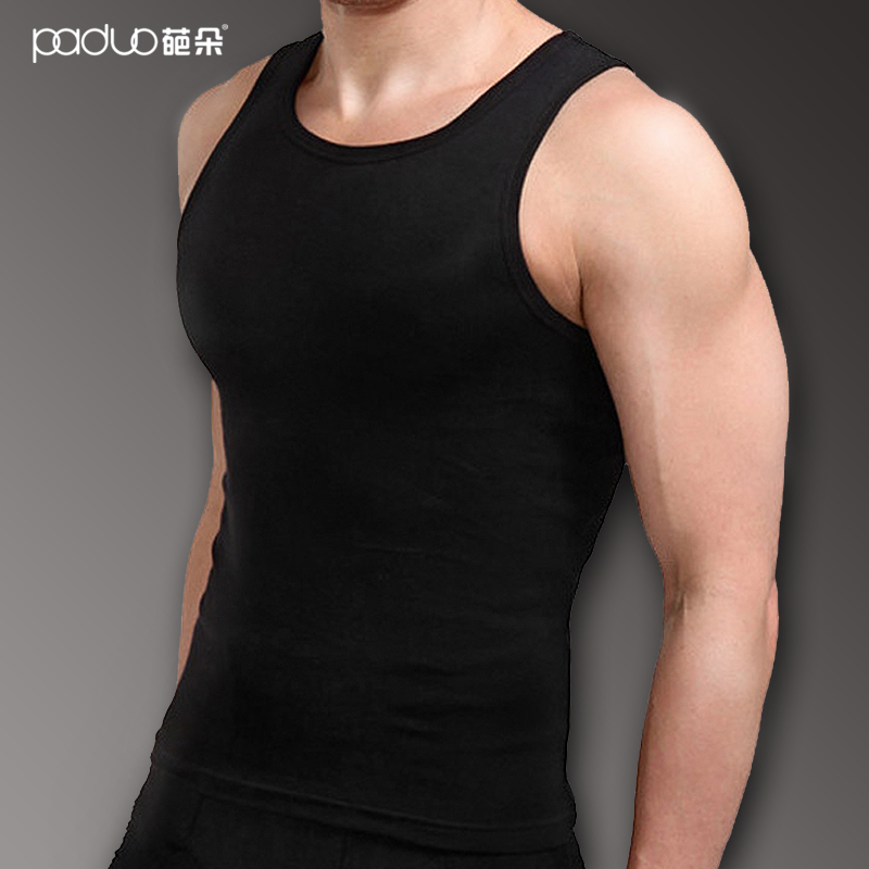 9.9 male vest 100% cotton rib tank undershirt knitting male sports vest(China (Mainland))