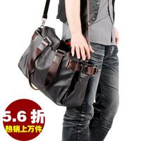 2014name-brand handbags Crazy Horse Leather Men's Brown Shoulder Messenger Bag Crossbody #6002B  j m d leather bags