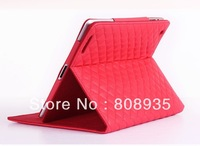 Kingcase Luxury Brand soft sheep leather stand flip case for ipad 2 3 4 Free shipping 10pcs/lot