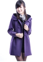 2013 Autumn and winter women plus size woolen overcoat woolen outerwear wool coat female