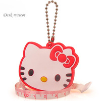 Free shipping 10 pcs/lot, HELLOKITTY Measuring tape Cartoon feet measuring tool Cute Kitty tape measure 100cm tape