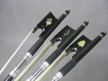 Quality 3pcs different plaid Carbon fiber violin bow 4/4