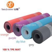 Eco frendly TPE yoga mat, 100% PVC free, Phthalates free, Chloride free,  SGS certificate.