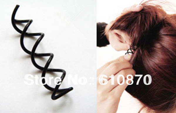 Free Shipping Wholesale 10pcs New Hot Fashion Women Spiral Spin Screw Hair Pin Clip Twist Barrette Tool(China (Mainland))