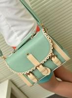 2013 fashion women messenger bag PU leather shoulder handbag Elegant Korean style free shipping