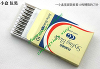 Best Quality 50pcs Feather Blades Professional Hair Razor Blades,Stainless Steel Blades,Double Sided Cut Blade Free Shipping