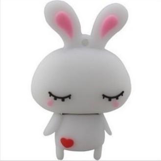 New 10pcs/lot  white Love Rabbit Shape 2GB 4GB 8GB  USB 2.0 Flash Drive
