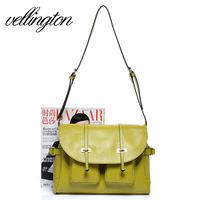 Hot sale 2013 fashion shaping women's cowhide bag shoulder bag double pocket bags women's handbag  free shipping