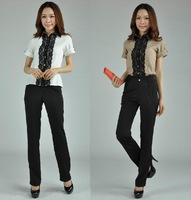 2013 Work Wear Set Women's Formal Suit For Office Ladies Work Wear Pant Sets Business Free Shipping