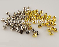 Promoting!1000 pcs/lot ABS 8MM Silver Gold Rivet Spots Rivet Spike Stud Punk Leather craft DIY Free Shipping hand sewing