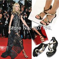 2013 Fashion new GZ Women Sandals Gold Pump Lady High Heel Shoe Party Wedding Stiletto Sexy Summer Genuine Leather Sheepskin