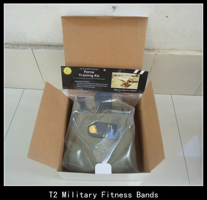 Deluxe T2 Military Exercise Ropes Personal Training and Fitness Bands kit Best Fitness Rope Equipment Freeshipping(China (Mainland))