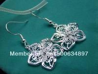Free shipping!!Hot Wholesale 100% New Fashion 925 Sterling Silver  Women's FLOWER Earrings BE03