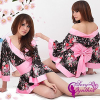 Free shipping!!Sexy Lingerie Kimono Dress Set.Free size.SleepwearUnderwear ,Uniform Temptation