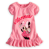 2013 Newest Cartoon Minnie Mouse T-shirt, short-sleeved dress shirt dress,Size 80-90-100-110-120,Free Shipping