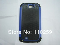 Free shipping (50 pieces/lot) Ball Grain 2 in 1 Hybrid Hard Case for samsung note 2 n7100