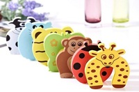 20pcs/set Child kids Baby Animal Cartoon Jammers Stop Door stopper holder lock Safety Guard Finger Protect Free Shipping