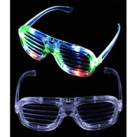Light up LED Shutter Shades Multicolor Rockstar Sunglasses