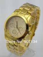 New Brand m fashion lady's women men wristwatch quality Rose gold / Gold without calendar watch Janpan Quartz Movement Watches