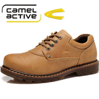 Free Shipping  German Fashion Camel Active Men Casual Shoes Top Layer Cowhide Leather Shoes Big Head Waterproof Causal Shoes