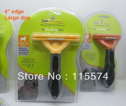 professional pet products deshedding tool 4 edge large dog up to 51-90 LBS new long hair(China (Mainland))