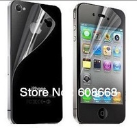 Clear Glossy Front &Back Screen Protector Film Guard for iPhone 4/4s with Retail Package Free DHL Shipping 200pcs/lot