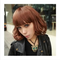 Upgrade paragraph Qi bangs short pear short curly hair wig blast wave