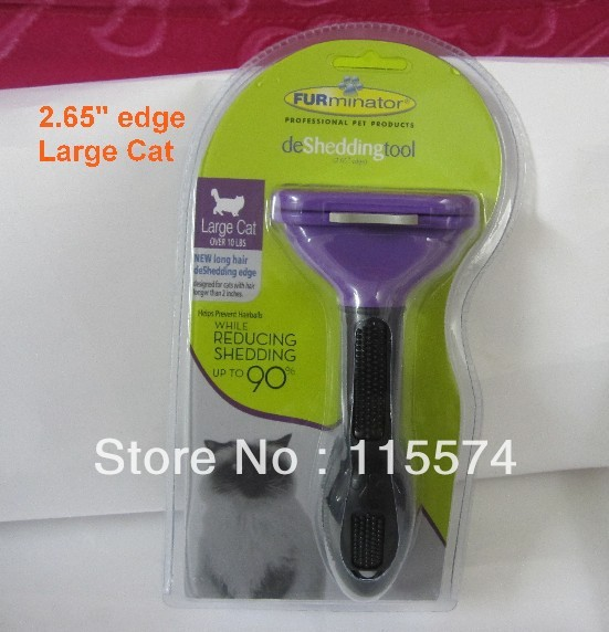 furninator professional pet products deshedding tool 2.65 edge larger cat over 10 LBS new long hair(China (Mainland))
