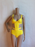 Free Shipping Region Bandage HL Swimsuit Paris Beachwear Swimwear Bikini Yellow&Red&Black HL501