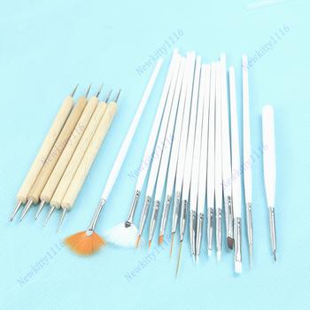 Free Shipping 20pcs Nail Art Design Painting Dotting Pen Brushes Tool Kit Set Beauty Salon