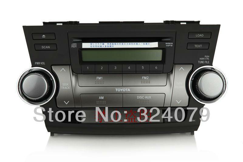 Panasonic/Matsushita 6 CD changer tuner 86120-0E210-E0 for Toyota Highlander car radio CQ-ET89C0UD(China (Mainland))
