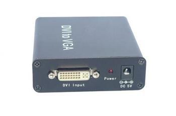 Digital DVI/RGB DVI-I to Analog PC VGA Video Converter Box 1080P