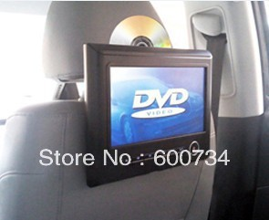 9 inch headrest dvd player&TFT headrest screen with bracket,high definition+FM and IR built-in wireless games function(China (Mainland))