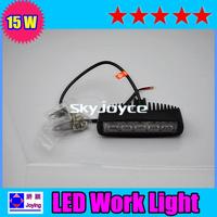 Super bright 15W led work light LED offroad Light led working light BLACK CASE SPOT BEAM freeshipping  ID05161123