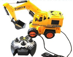 Free shipping! Remote Digger ,RC Remote Control Electric Construction Engineer Tractor Truck(China (Mainland))