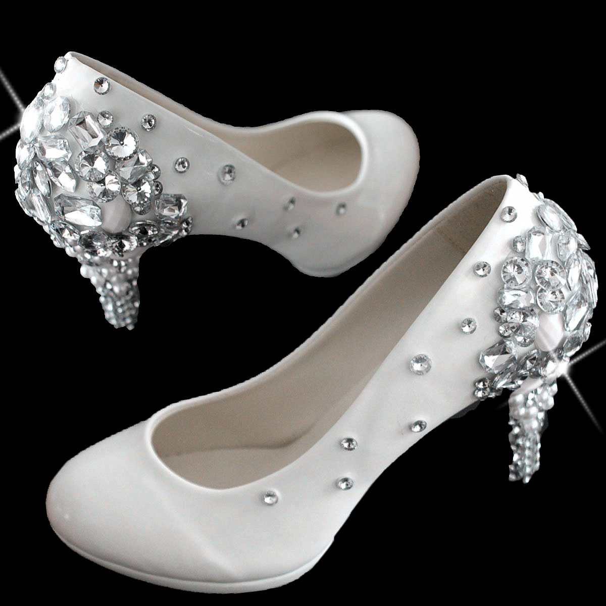 Rhinestone wedding shoes,crystal high-heeled shoes(China (Mainland))