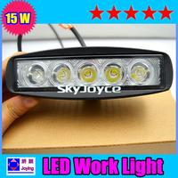 2 pcs one lot Super bright 15W led work light LED offroad Light led working light BLACK CASE SPOT BEAM freeshipping  ID05161123