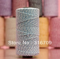 5 Spool Double Colors Cotton Bakers Twine (110yard/spool) 12ply Baker's Twine Gift Packing AQUA Free Shipping twine for crafting