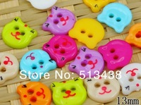 500pcs charm candy color little dog head plastic flatback buttons,lovely baby DIY doll sewing/scrapbook/craft/Cardmaker mix  lot
