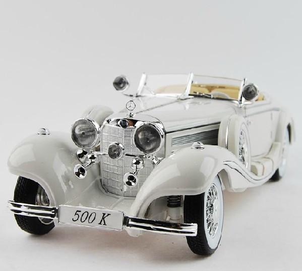 HOT ! 2013 newest ! 1: 18 Maisto Mercedes-Benz 500K Classic car car model BEST edition !3 colors to choose(China (Mainland))