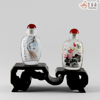 Pot painting snuff bottle gift please ask more pattern gift box with two without base handmade snuff bottle