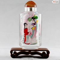 Pot inside painting snuff bottle gift decoration Chinese dynasty ladys handmade gift box without base ask more pattern